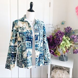 Additions by Chico's Printed Lightweight Jacket